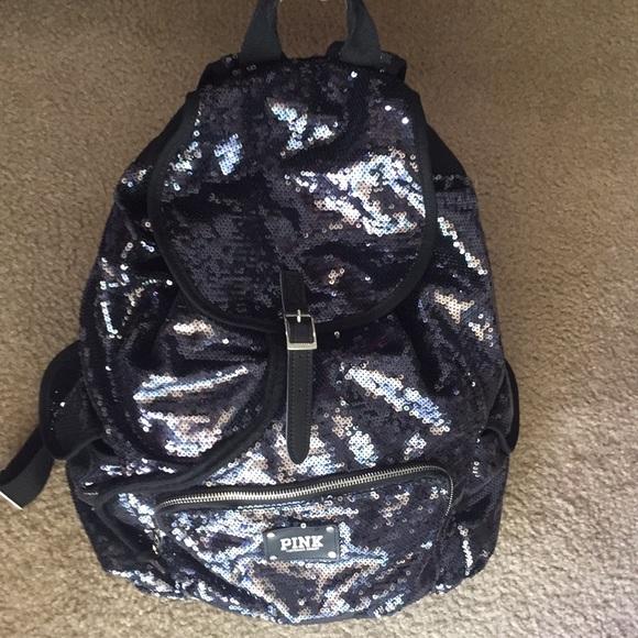 39ca1684e50 PINK Victoria s Secret Sequin Backpack. M 5ae4cc4bf9e50154d76dfe39